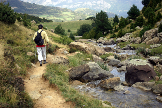 Walking on the mountain